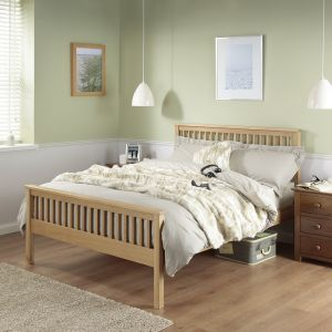 Silentnight Dakota Solid Oak Bed Frame