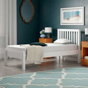 Silentnight Hayes Wooden Bed Frame, in White