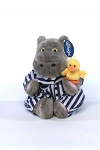 """10"""" Hippo and Duck  Cuddly Toy"""