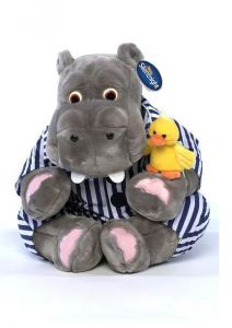 """20"""" Hippo and Duck  Cuddly Toy"""