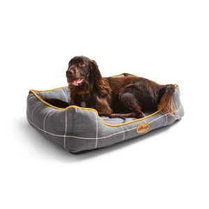 dog lying on Silentnight memory foam pet bed