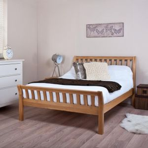 Silentnight Lancaster Solid Oak Bed Frame