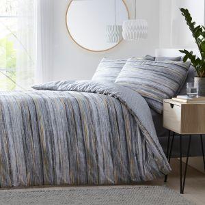Silentnight Washed Stripe Duvet Cover Set
