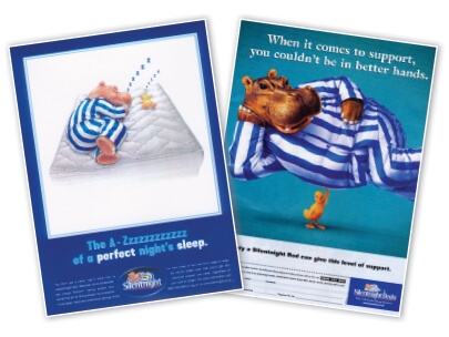 Silentnight Miracoil Posters featuring Hippo and Duck