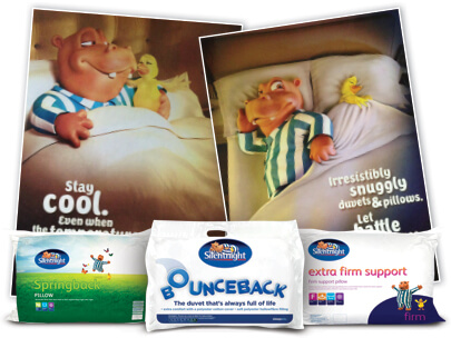 Silentnight Pillows and Adverts