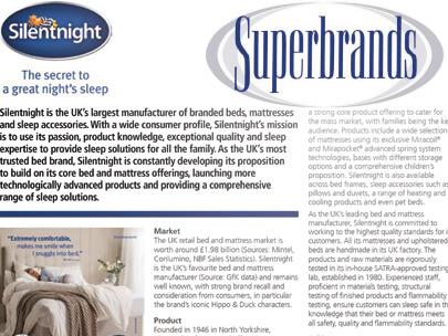Superbrands, featuring Silentnight