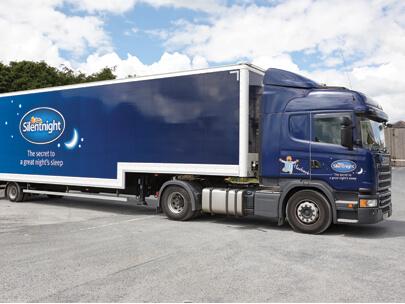 Silentnight branded delivery truck