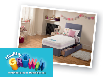 Silentnight Healthy Growth Branding and Bed
