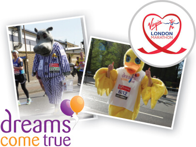 Silentnight and Dreams at the London marathon
