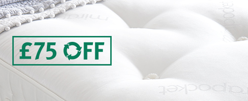 £75 Off Selected Mattresses When You Recycle Your Existing Mattress With Us