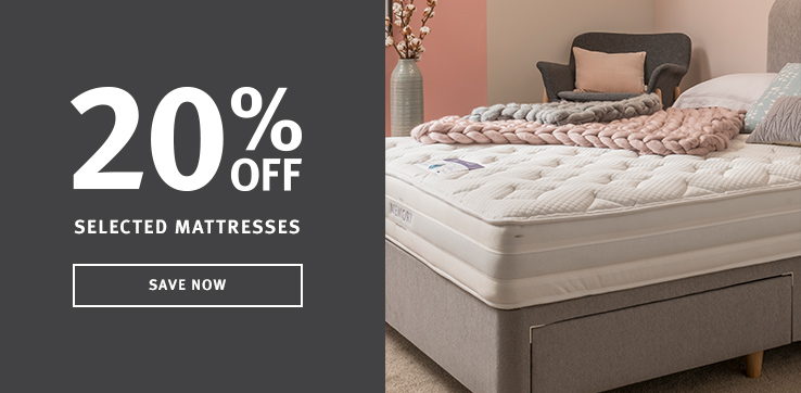 20% OFF selected mattresses