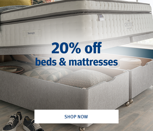 20% Off Selected Beds and Mattresses