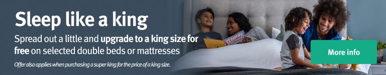 Selected king size mattresses for the price of a double